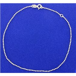 Sterling Silver Bead Anklet