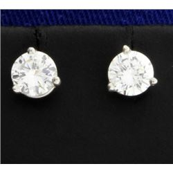 1.1ct TW Diamond Stud Earrings in Platinum