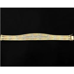 Italian Made Rose, White, & Yellow Gold Bracelet