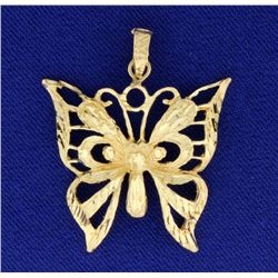 Diamond Cut Butterfly Charm or Pendant