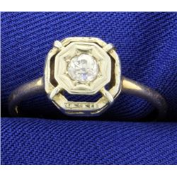 Antique 1/4ct Diamond Ring