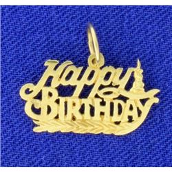 Happy Birthday Pendant or Charm