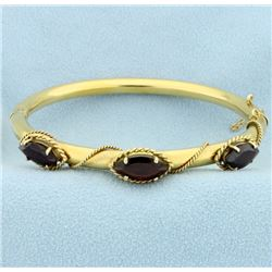 6ct TW Garnet Bangle Bracelet