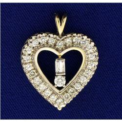 1.25ct TW Diamond Heart Pendant