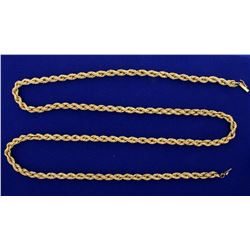 30 1/2 Inch Rope Style Neck Chain