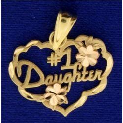 14k Gold #1 Daughter Pendant