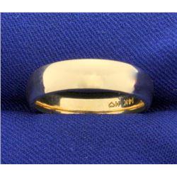 5mm 14k Yellow Gold Wedding Band Ring