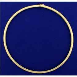 Italian Made 16 Inch Omega Necklace