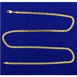 Italian Made 20 3/4 Inch Anchor or Mariner Link Neck Chain
