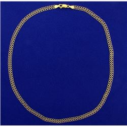 Designer 18 Inch Double Circle Link Neck Chain in 18k Gold