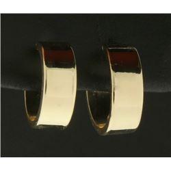1/2 Inch Diameter Hoop Earrings in 14k Gold
