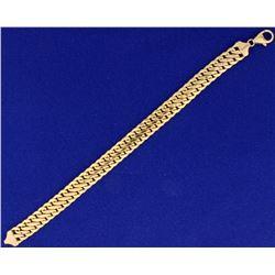 Double Curb Link 14k Rose Gold Bracelet