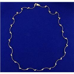 Designer 1/2ct TW Champagne Diamond Necklace