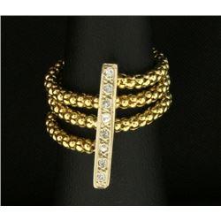 Unique Diamond Flexible Ring