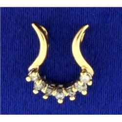 Diamond Horseshoe Pendant in 14k Gold