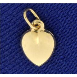 Small Heart Charm in 14k Gold