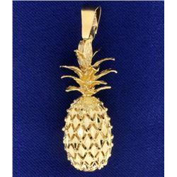 Large Diamond Cut Pineapple Pendant