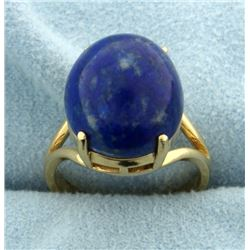 Lapis Solitaire Ring in 14k Gold