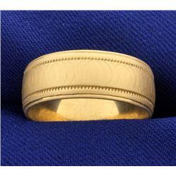 8mm Satin Finish Band Ring