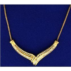 1 ct TW Custom Made Diamond Freeform Necklace