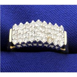 1/2ct Total Weight Diamond Cluster Ring