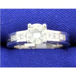 1.18 CT 18k white gold diamond engagement ring