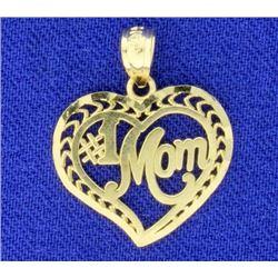 #1 Mom Heart Pendant
