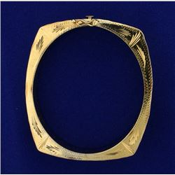 Unique Hand Crafted Hinged Bangle Bracelet