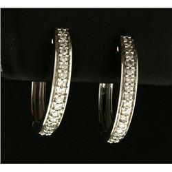 1/3ct TW Diamond Hoop Earrings