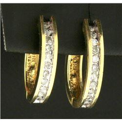 1/2ct TW Diamond Hoop Earrings