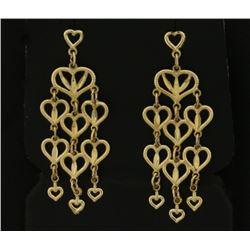 Heart Dangle Chandelier Earrings