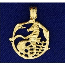 14k Gold Coral Reef Pendant