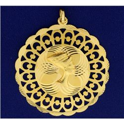 Nefertiti Egyptian Queen Pendant in 18k Gold