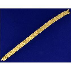 Heavy 18k Yellow Gold Men's Nugget Bracelet by Mayor's