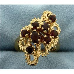 Vintage Garnet Gold Ring