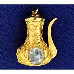 Aladdin's Lamp Charm in 18k Gold