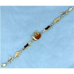 Noah's Ark Enameled Bracelet