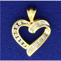 1/4ct TW Diamond Heart Pendant