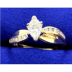 2/3 Ct TW Marquise Diamond Ring