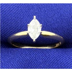 1/2 Carat Marquise Diamond Solitaire Ring
