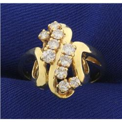 3/4 Ct TW Abstract Style Diamond Ring