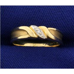 Unique Diamond Band Ring in 14k Gold