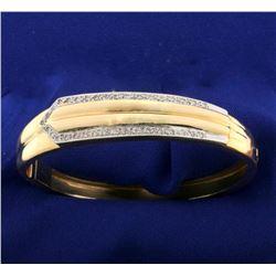 Diamond Bangle Bracelet in 14k Yellow Gold