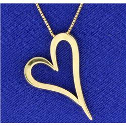 Heart Pendant on Chain