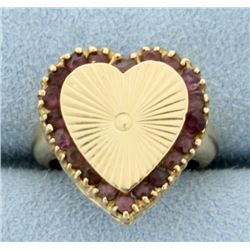 Amethyst Heart Pinky Ring