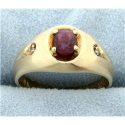 Rhodolite Garnet & Diamond Ring