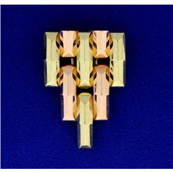 Statement Pin in Rose, White, & Yellow Gold