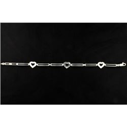 Italian Made Diamond Heart Bracelet