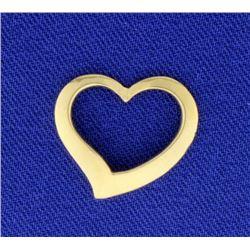 14K Heart Slide