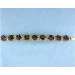 18K Gold 16ct TW Sapphire Bracelet
